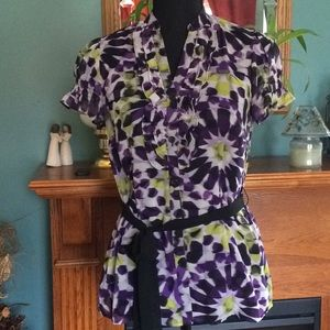 Beautiful Floral Blouse Size Small Petite